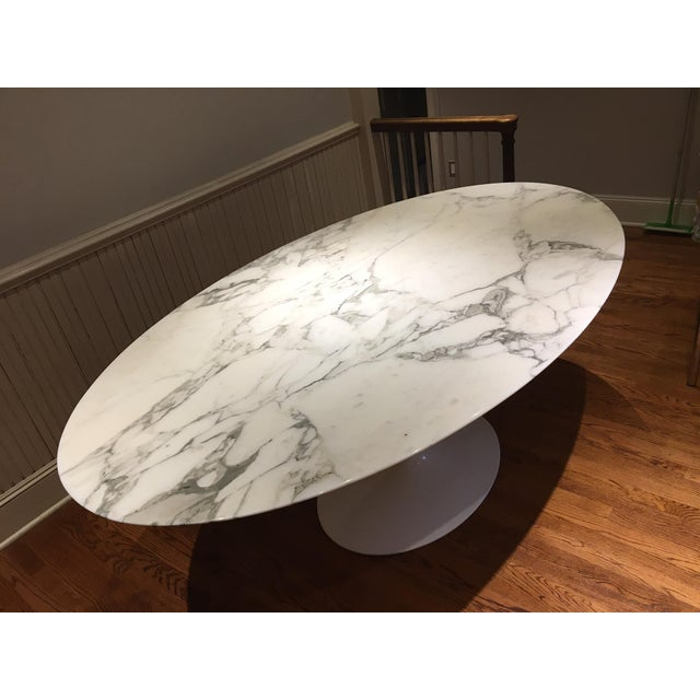 Knoll Carrera Marble Dining Table - Image 5 of 7