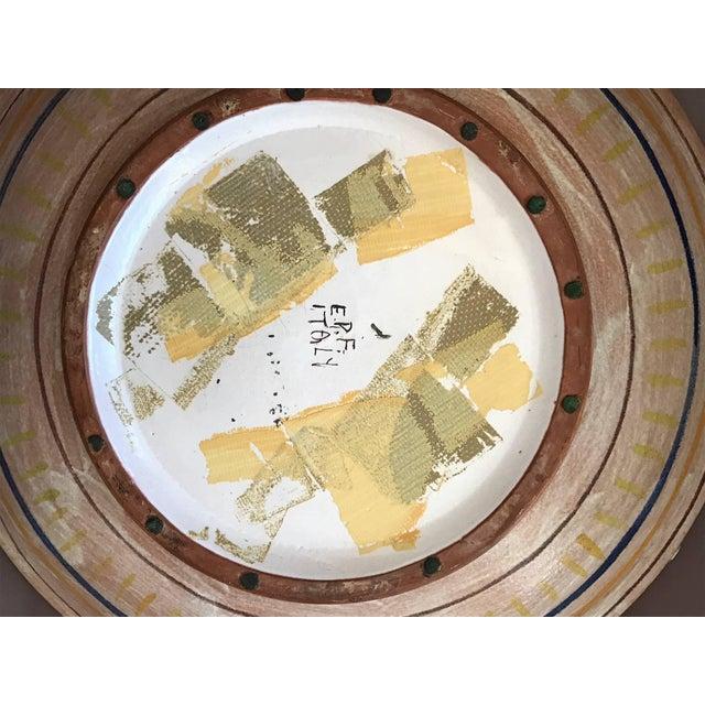 Ceramic Eugenio Pattarino Ceramic Charger For Sale - Image 7 of 10
