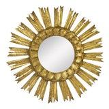 Image of French Gilt Starburst or Sunburst Mirror (Diameter 16) For Sale