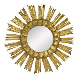 French Gilt Starburst or Sunburst Mirror (Diameter 16) For Sale