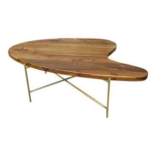 Mid-Century Boomerang Shape Teak Coffee Table