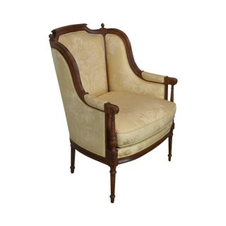 Hickory Chair French Louis XVI Style Bergere Chair For Sale