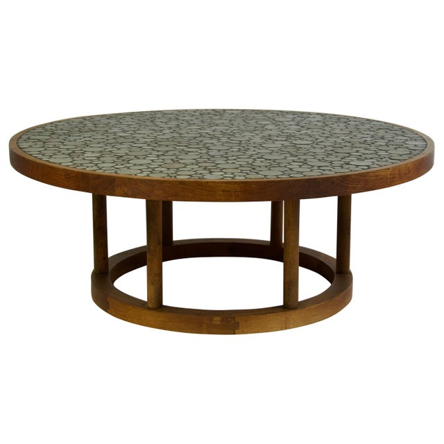 Wood Ceramic Tile-Top Coffee Table by Gordon and Jane Martz For Sale - Image 7 of 7