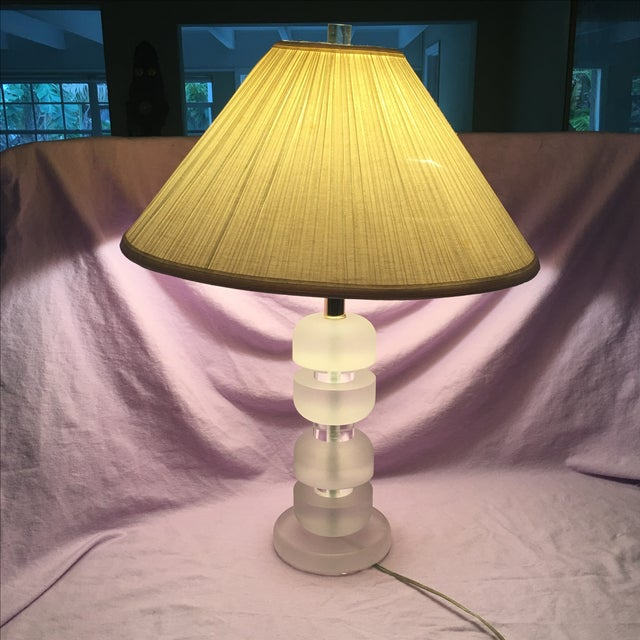 Mid-Century Stacked Lucite Lamp - Image 2 of 5