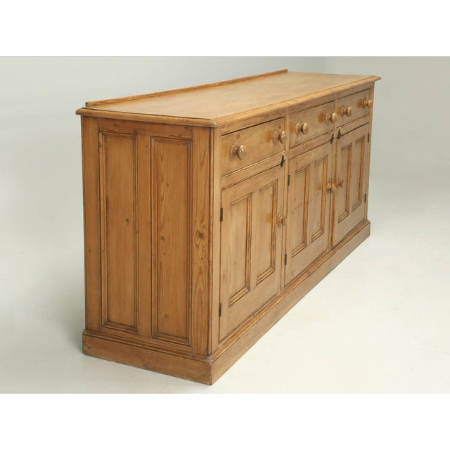 Antique English Pine Buffet/Sideboard or Dresser Base Circa 1900 For Sale - Image 10 of 10