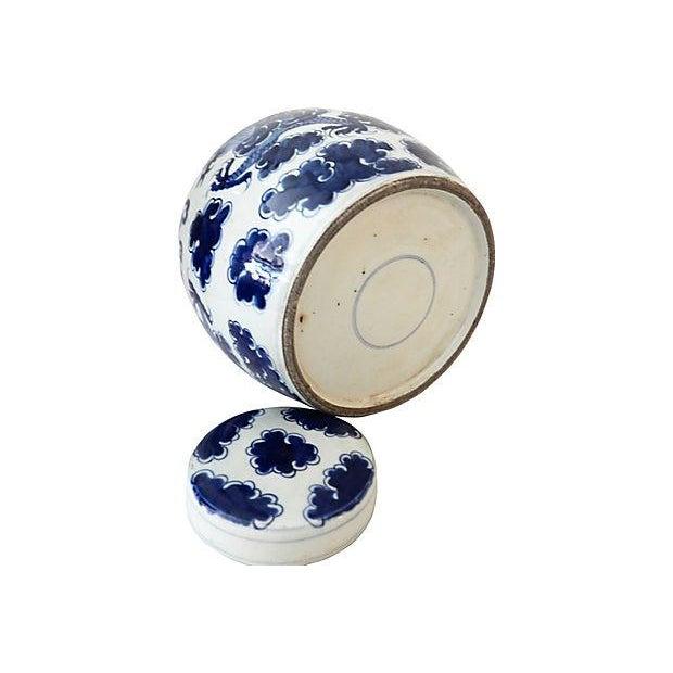 Blue & White Ginger Jar w/ Dragon For Sale - Image 9 of 9