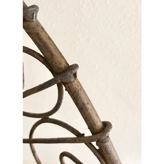 Late 19th Century Late 19th Century French Wire Iron Garden Bench For Sale - Image 5 of 10