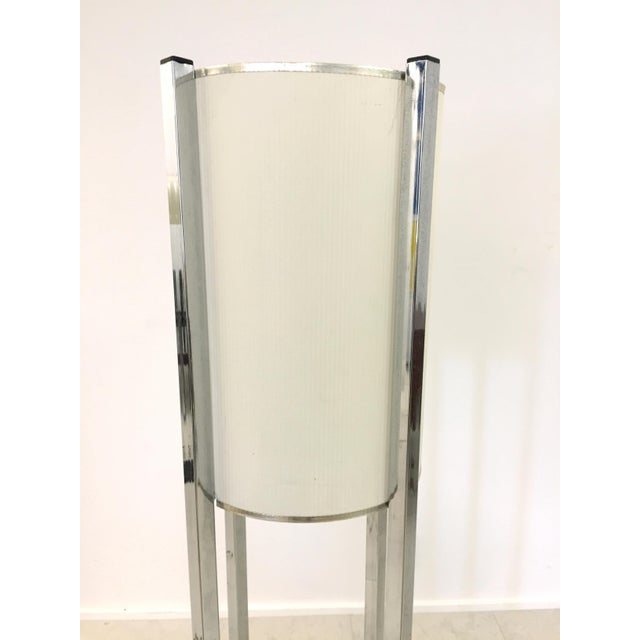 Vintage Chrome Drum Shade Floor Lamp For Sale - Image 5 of 7