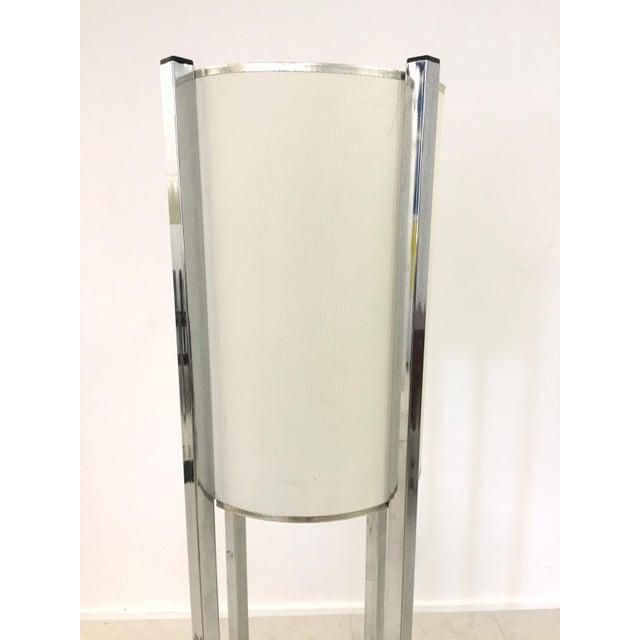 Vintage Chrome Drum Shade Floor Lamp - Image 5 of 7