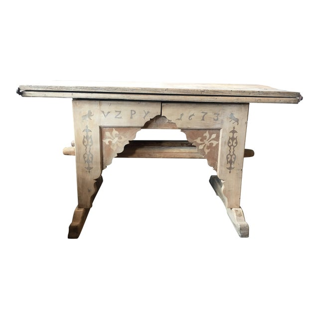 Antique Swiss Money Changing Table - Image 1 of 13