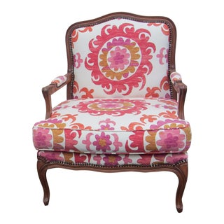 Boho Chic Open Arm Bergere Chair by Fremarc