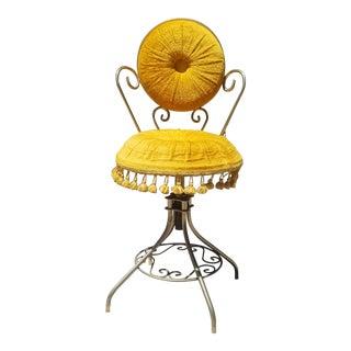 1950s Vintage Victorian Style Ladies Vanity Dressing Chair For Sale