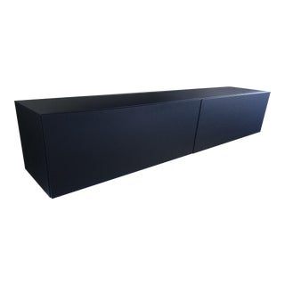 Contemporary Black Wall-Mounted Media Center For Sale