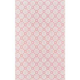 """Madcap Cottage Lisbon Seville Pink Area Rug 3'6"""" X 5'6"""" For Sale"""