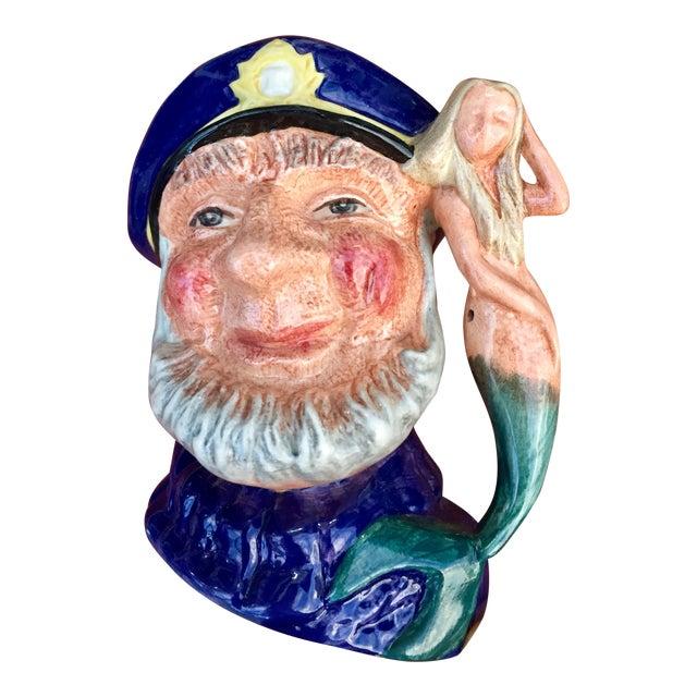 Vintage Sea Captain & Mermaid Mug For Sale