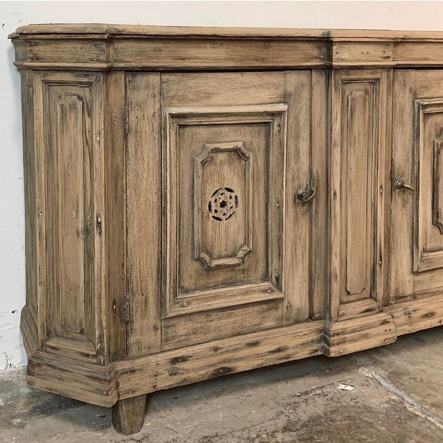 Mid 18th Century 18th Century Stripped Pine Dutch Low Buffet For Sale - Image 5 of 12