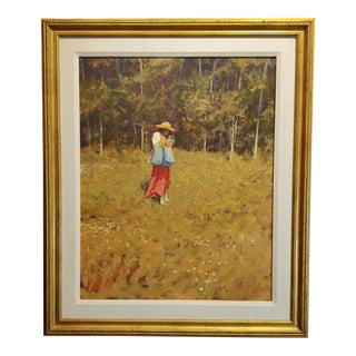 William Berra -Beautiful Early Spring in New Mexico-Impressionist-Oil Painting For Sale