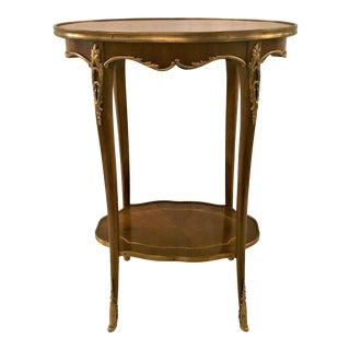 Antique French Napoleon III Mahogany and Ormolu Occasional Table. For Sale