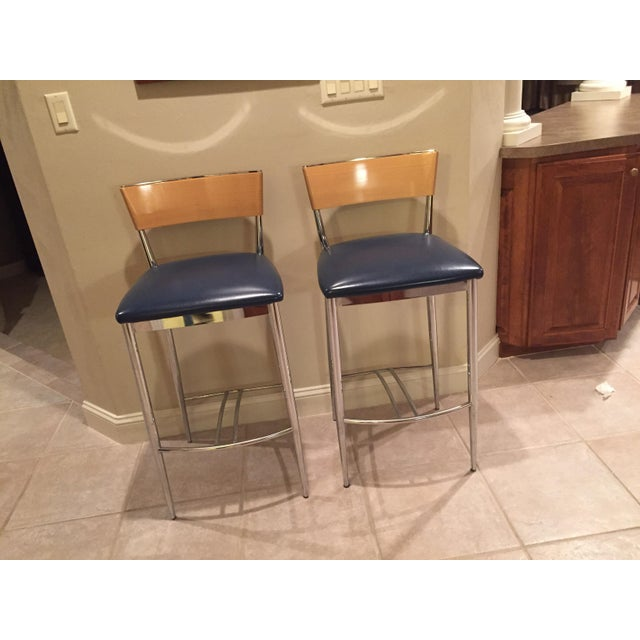 Loewenstein Modern Bar Stools - A Pair - Image 2 of 8