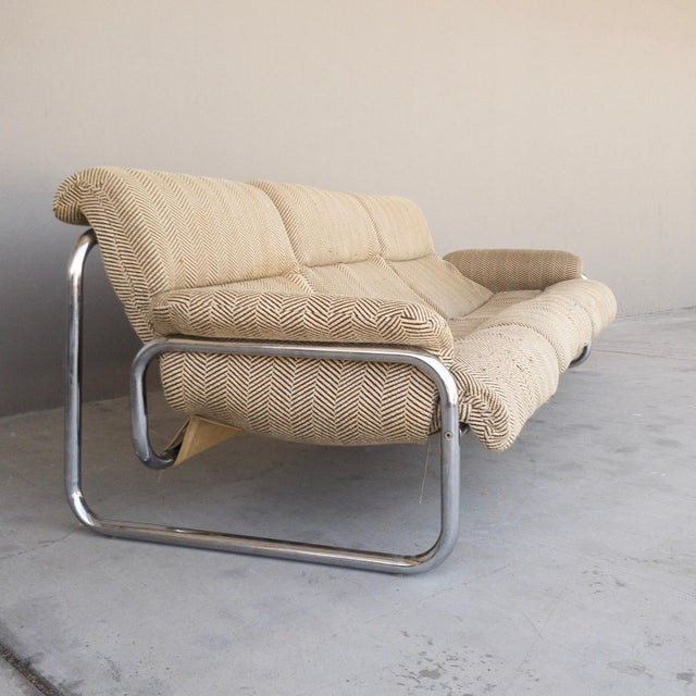 1970s Vintage Chrome Sling Sofa For Sale In Los Angeles - Image 6 of 8