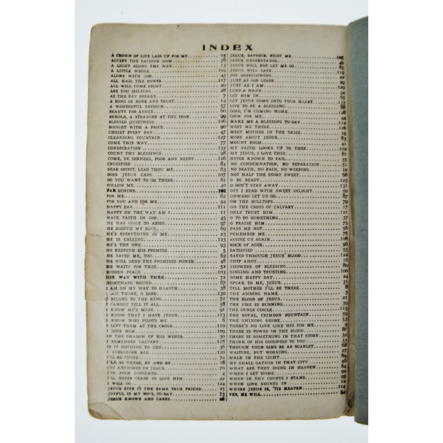 Gray An Antique Printing of '1905 New Songs of the Gospel No. 2' Book For Sale - Image 8 of 11