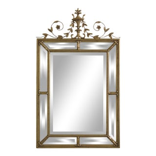 Friedman Brothers Urn Top Gold Framed Mirror For Sale