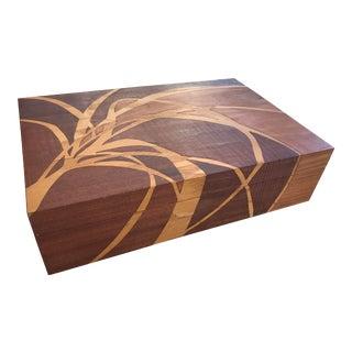 1930s Self-Taught Albert Rosenblatt Intarsia Wooden Box