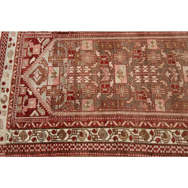 "1910s Traditional Apadana-Antique Persian Distressed Rug - 2'3"" X 10'0"" For Sale - Image 10 of 11"