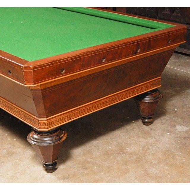 1860s Italian Carom Mahogany Billiard Table With Inlay For Sale - Image 4 of 12