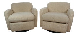 Image of Beige Swivel Chairs