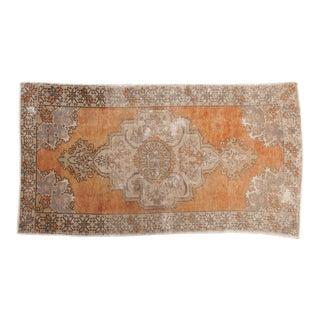 "Vintage Distressed Oushak Carpet - 4'6"" x 8'2"""