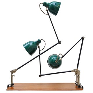 Three Alfred Muller Architect Clamp Lamps, Switzerland For Sale