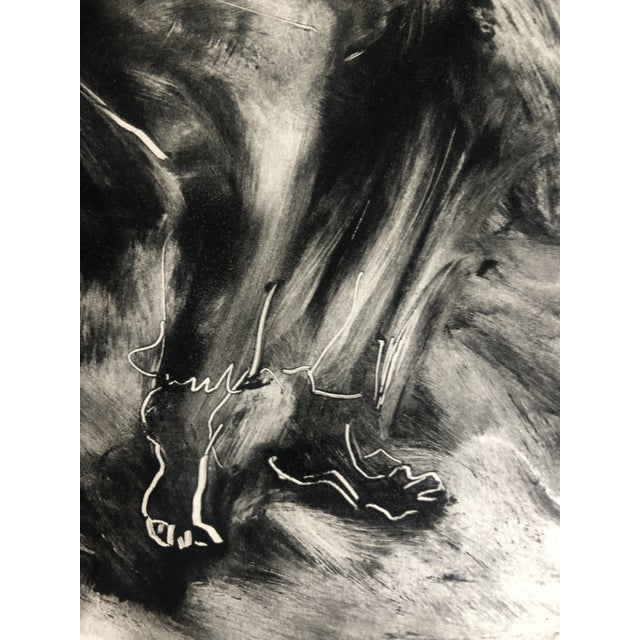 1970s Abstracted Figure Aquatint For Sale - Image 6 of 7