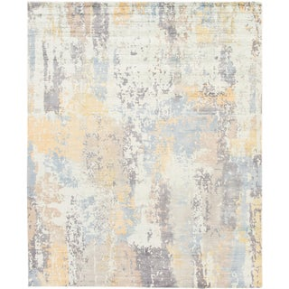 21st Century Modern Bamboo Silk Rug For Sale