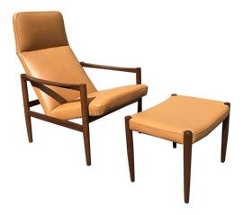 Image of Swedish Modern Chair and Ottoman Sets