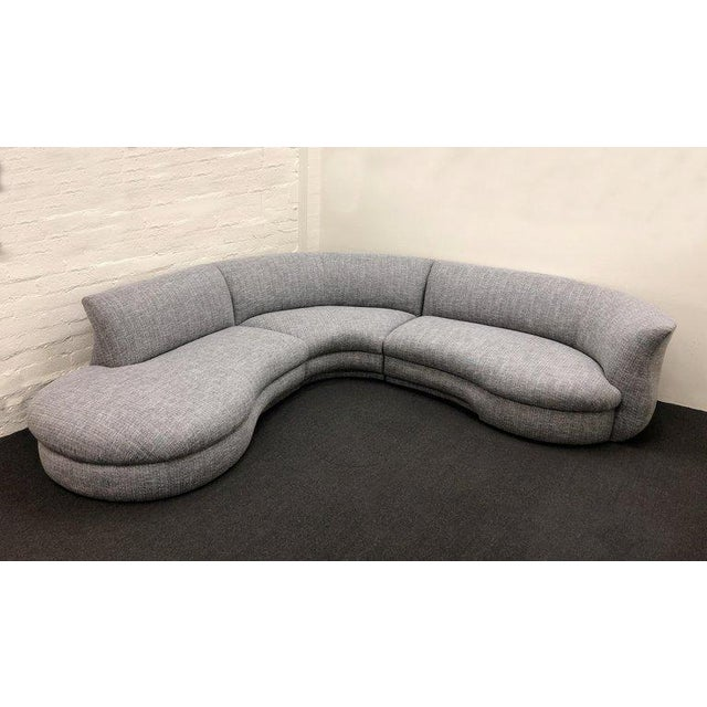 Modern Three-Piece Sectional Sofa For Sale - Image 3 of 10
