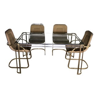 Mid Century Modern Milo Baughman for Morex Italy Dining Set For Sale