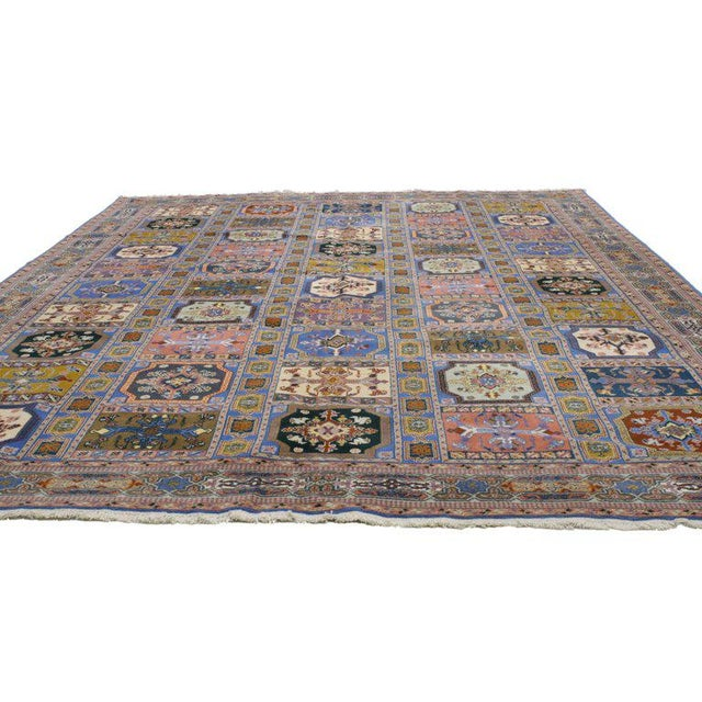 1990s Rabat Moroccan Rug With Compartment Design - For Sale - Image 5 of 9