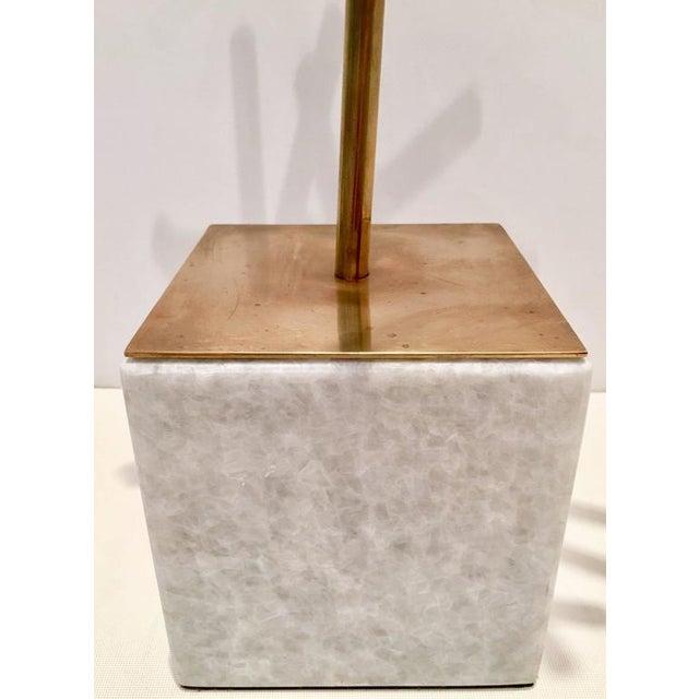 Modern Brass & Marble Abstract Tubular Sticks Sculpture - Image 5 of 9