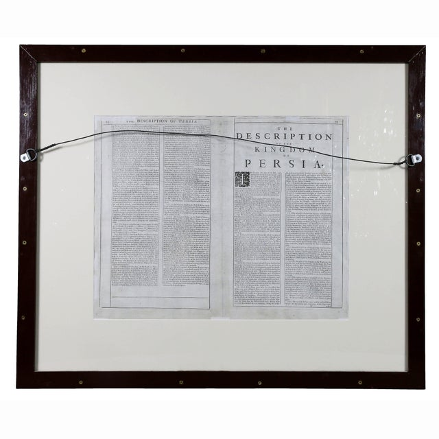 Framed Hand Colored Map of Persia by John Speed For Sale - Image 9 of 10