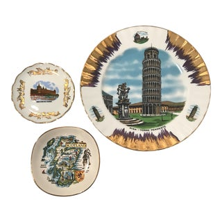 1960's European Souvenir Plates - Set of 3