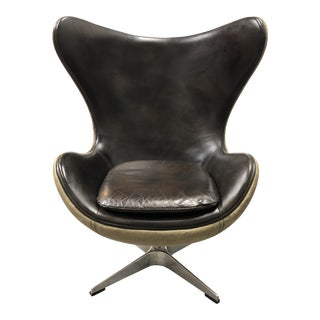 Restoration Hardware Mini 1950s Copenhagen Leather Chair For Sale