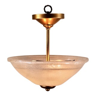 Mid-Century Modern Murano Glass Pendent Fixture For Sale