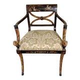 Image of Rose Tarlow Melrose House Chinoiserie Bergere Chair For Sale