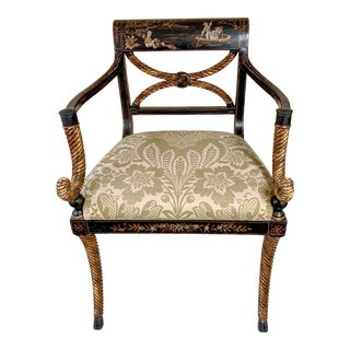 Rose Tarlow Melrose House Chinoiserie Bergere Chair For Sale