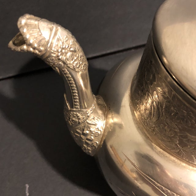 Victorian Aurora Silver Plate Teapot For Sale In Houston - Image 6 of 13