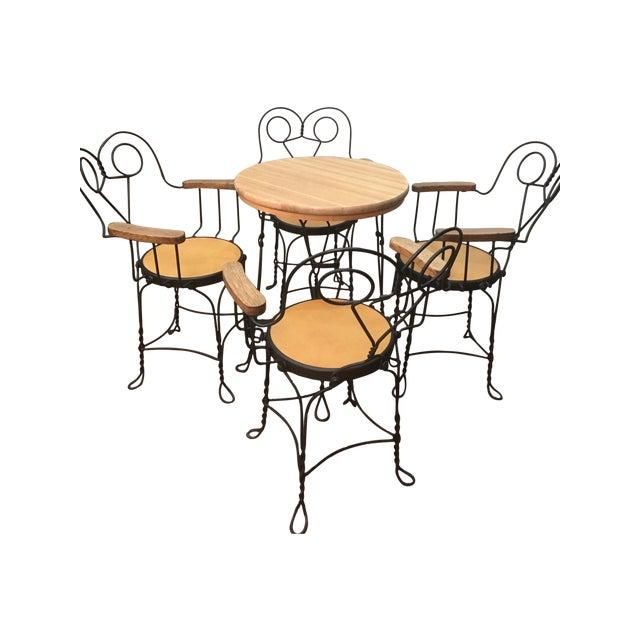 Vintage Cafe Dining Set - Image 1 of 6