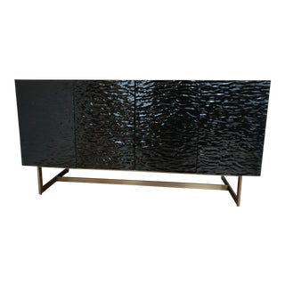 Contemporary CB2 Ripple Media Console Storage Cabinet For Sale