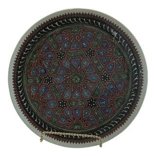 Antique Aztec Large Serving Platter For Sale