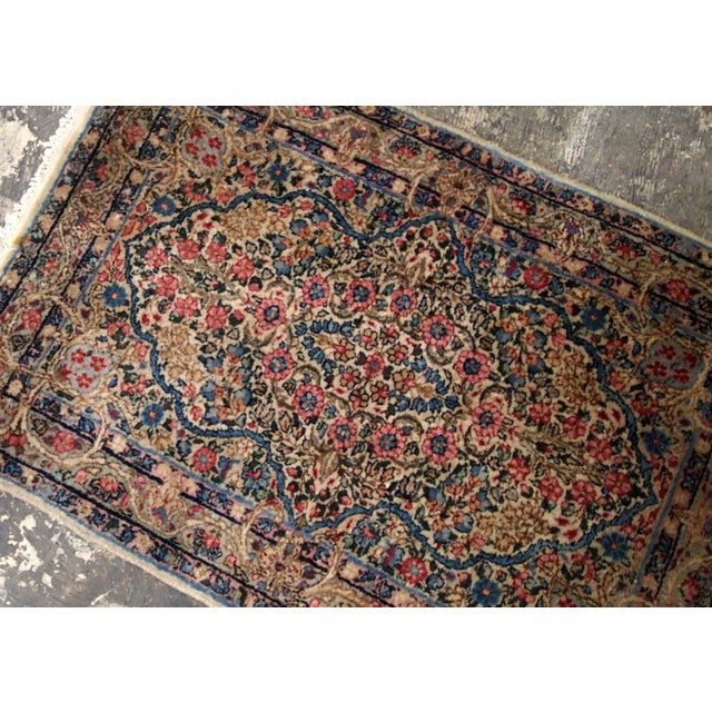 1920s 1920s, Handmade Antique Persian Kerman Rug 2.1' X 3.2' - 1b704 For Sale - Image 5 of 7